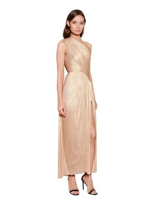 Maria Lucia Hohan One shoulder silk plissé midi dress