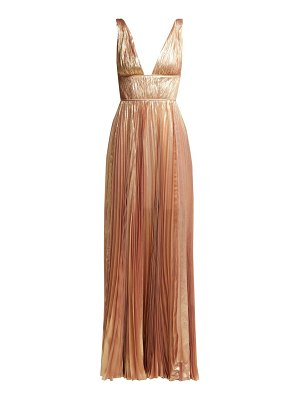 Maria Lucia Hohan riley metallic silk-blend gown