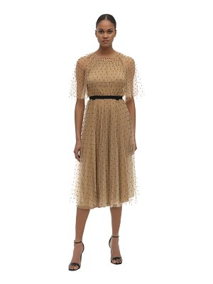 Maria Lucia Hohan Shani beaded tulle midi dress