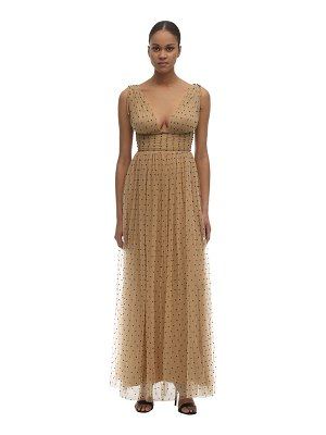 Maria Lucia Hohan Tayla beaded tulle midi dress