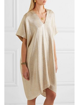Marie France Van Damme midi boubou metallic jacquard dress