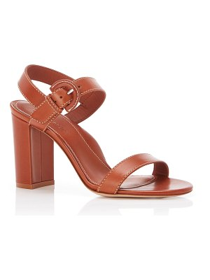 Marion Parke Lang Leather Block-Heel Sandals
