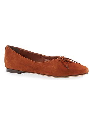 Marion Parke Rosie Suede Lace-Up Ballerina Flats