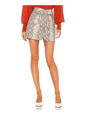 Marissa Webb katrina print canvas skirt