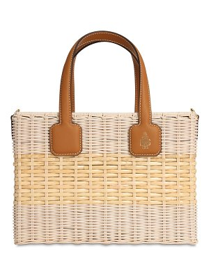 Mark Cross Manray rattan top handle bag