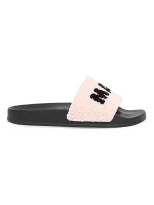 Marni 10mm logo terry cloth slides