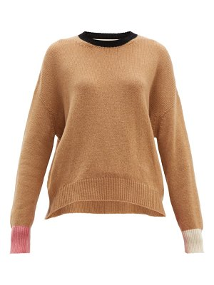 Marni colour block cashmere sweater