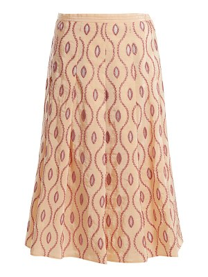 Marni Embroidered-eyelet A-line midi skirt