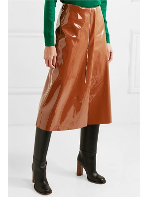 Marni faux patent-leather midi skirt