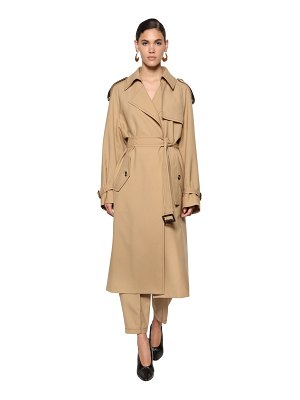 Marni Fluid wool gabardine trench coat