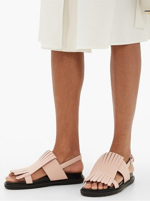 Marni fussbett fringed leather sandals