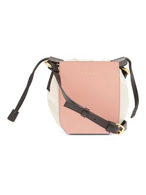 Marni gusset small leather bucket bag