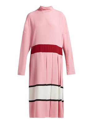 Marni high neck pleated midi dress