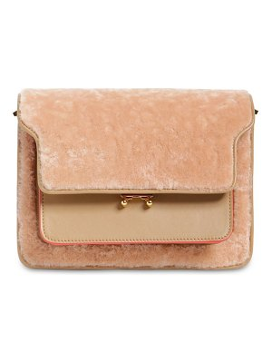 Marni Medium trunk shearling shoulder bag