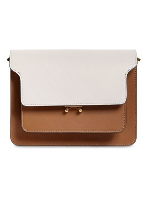 Marni Medium trunk tricolor leather bag