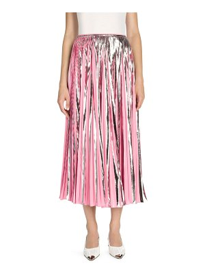 Marni metallic pleated midi skirt