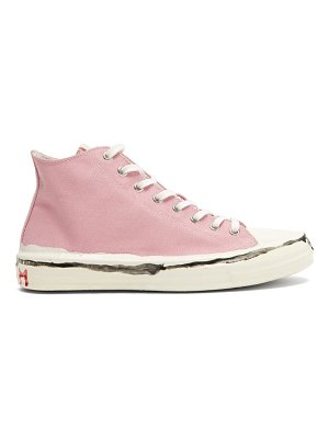 Marni painted-logo canvas high-top trainers