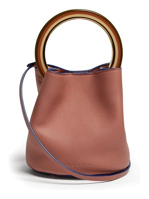 Marni Pannier leather bucket bag