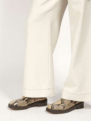 Marni python effect leather boots