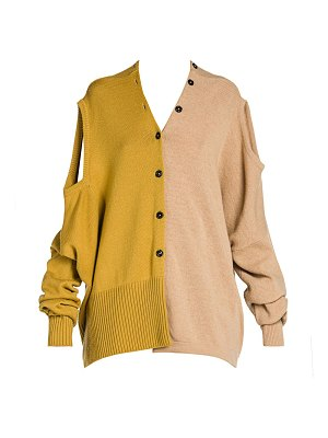 Marni shetland colorblock wool convertible cardigan