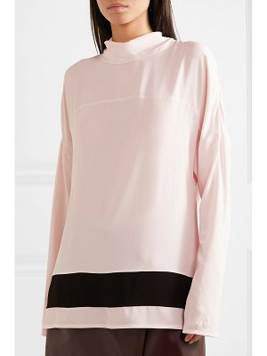 Marni striped crepe de chine blouse