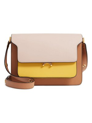 Marni trunk colorblock leather shoulder bag