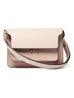 Marni trunk medium leather shoulder bag