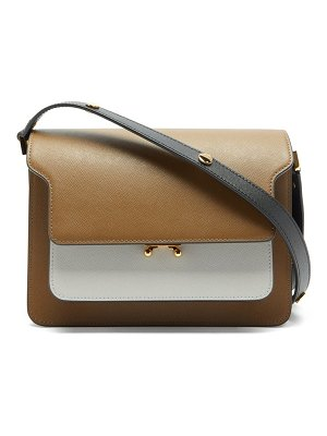 Marni trunk medium saffiano-leather bag