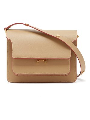 Marni trunk medium saffiano-leather shoulder bag