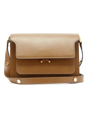 Marni trunk medium saffiano leather shoulder bag