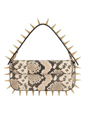 MARQUES ALMEIDA Spiked snake printed leather clutch bag