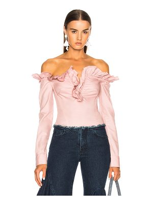 MARQUES ALMEIDA V Neck Ruffle Blouse