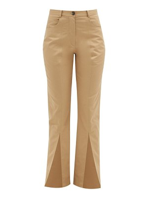MARTINE ROSE front-slit cotton-twill trousers