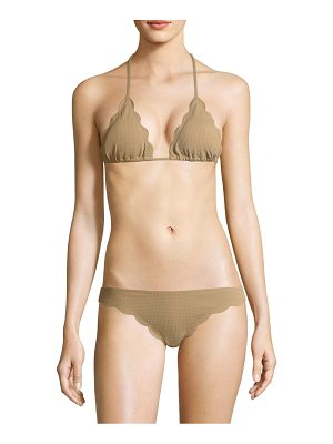 MARYSIA SWIM Broadway Scalloped String Bikini Top