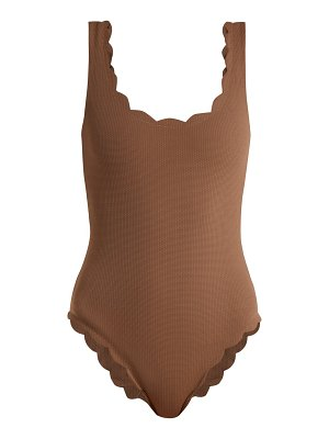 Marysia Swim Palm Springs scallop-edge swimsuit
