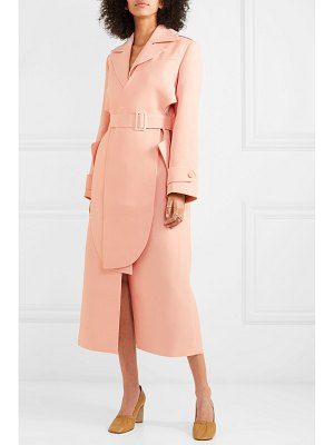 MATÉRIEL layered belted twill trench coat
