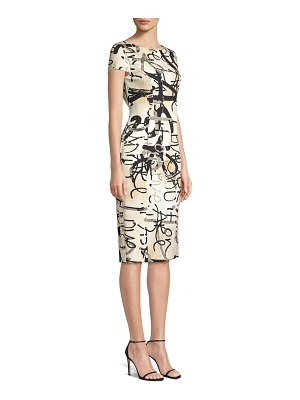 Max Mara alcali printed sheath dress