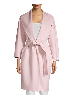 Max Mara antique virgin wool wrap coat