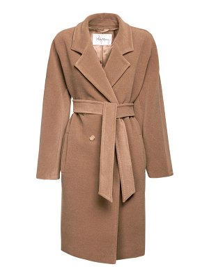 Max Mara Baiocco double breast camel & wool coat