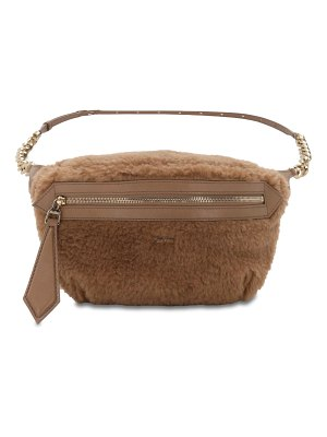 Max Mara Banane 4 fur effect camel belt bag