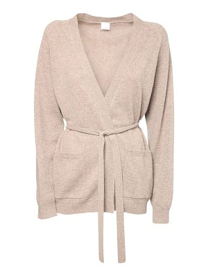 Max Mara Belted cashmere knit cardigan