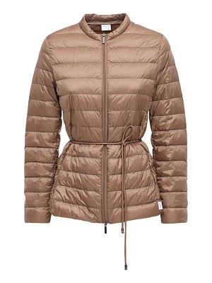 Max Mara Belted nylon zip-up down jacket