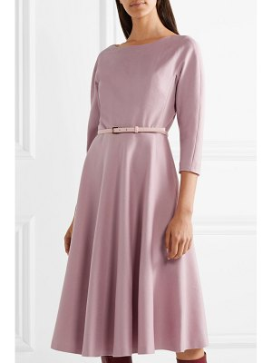 Max Mara biavo belted camel hair midi dress