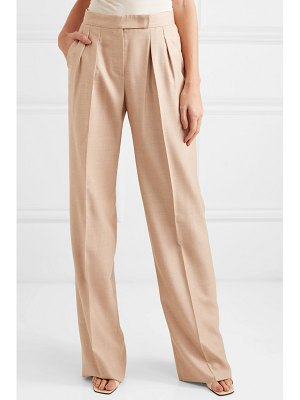 Max Mara camel hair and silk-blend wide-leg pants