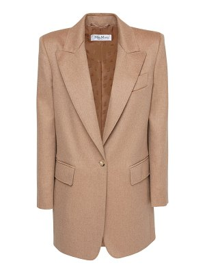 Max Mara Camel single breasted long blazer