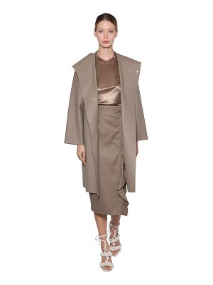 Max Mara Coated jersey double breasted rain coat
