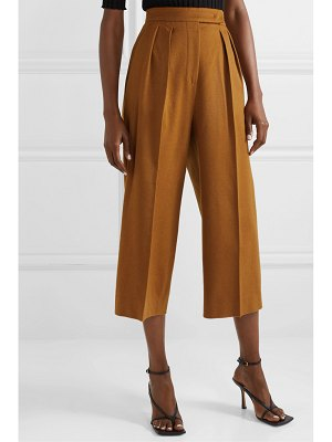 Max Mara cropped pleated camel hair wide-leg pants