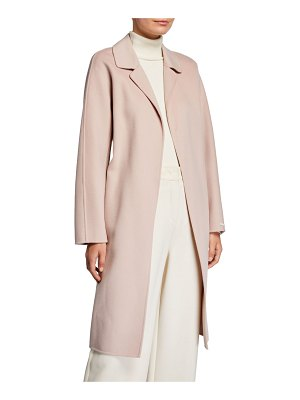 Max Mara Doraci Midi Wrap Double-Face Wool Coat
