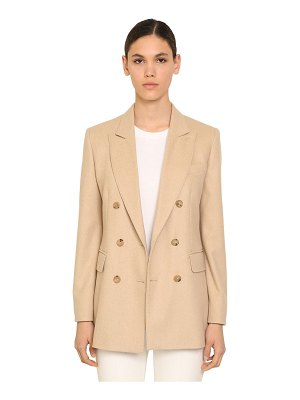 Max Mara Double breasted camel & cashmere blazer