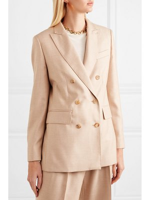 Max Mara double-breasted camel hair and silk-blend blazer